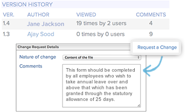 Access full document revision history on your Intranet