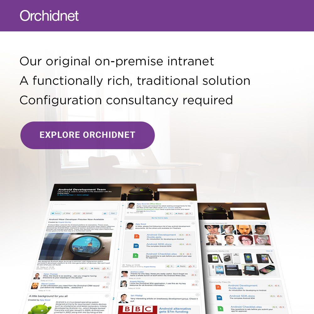 Our original on-premise intranet