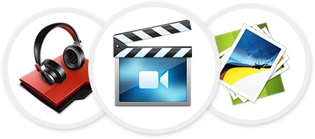 Make all your Photos, Videos and Audio tracks available instantly from the Intranet Media Library